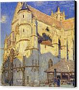 The Church At Moret Canvas Print