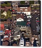 The Clarke Cook House Restaurant P.o. Box 249 Bannisters Wharf Newport Ri 02840 Canvas Print by Duncan Pearson
