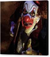 The Clown Canvas Print by Mary Hood