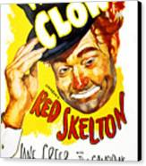 The Clown, Red Skelton, 1953 Canvas Print