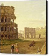 The Colosseum Canvas Print by John Inigo Richards