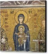 The Comnenus Mosaics In Hagia Sophia Canvas Print