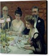 The Corner Of The Table Canvas Print by Paul Chabas