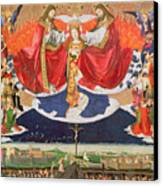 The Coronation Of The Virgin Canvas Print by Enguerrand Quarton