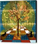 The Cosmic Tree Canvas Print by Sydne Archambault