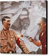 The Dalai Lama Shoots Adolph Hitler Canvas Print