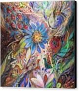 The Dance Of Light Canvas Print by Elena Kotliarker