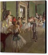 The Dancing Class Canvas Print by Edgar Degas