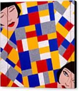 The De Stijl Dolls Canvas Print