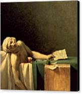 The Death Of Marat Canvas Print