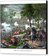 The Death Of Stonewall Jackson Canvas Print by War Is Hell Store