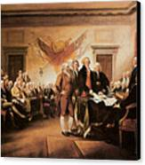 The Declaration Of Independence Canvas Print by John Trumbull