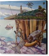 The Deep Canvas Print by Carlos Rodriguez Yorde