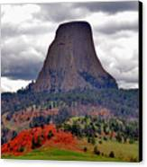 The Devils Tower Wy Canvas Print by Susanne Van Hulst