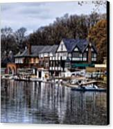 The Docks At Boathouse Row - Philadelphia Canvas Print