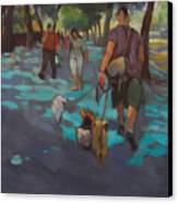 The Dog Walker Canvas Print