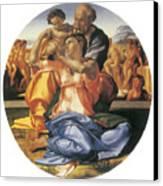 The Doni Tondo Canvas Print by Michelangelo Bounarroti