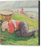 The Drummer Boy's Dream Canvas Print by Frederic James Shields