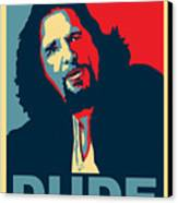 The Dude Abides Canvas Print by Christian Broadbent