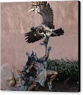 The Eagle And The Indian Canvas Print