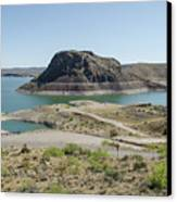 The Elephant At Elephant Butte Lake  Canvas Print by Allen Sheffield