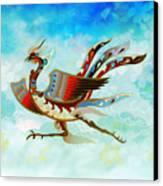 The Empress - Flight Of Phoenix - Blue Version Canvas Print