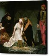 The Execution Of Lady Jane Grey Canvas Print