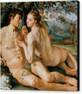 The Fall Of Man Canvas Print by Hendrik Goldzius