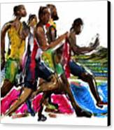 The Finish Line Canvas Print by Russell Pierce