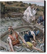 The First Miraculous Draught Of Fish Canvas Print by Tissot
