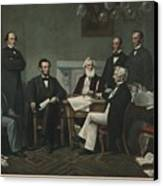 The First Reading Of The Emancipation Canvas Print by Everett