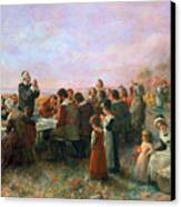 The First Thanksgiving Canvas Print by Granger