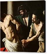 The Flagellation Of Christ Canvas Print by Caravaggio