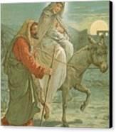 The Flight Into Egypt Canvas Print by John Lawson