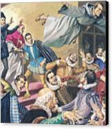 The Flight Of Father Dominic Canvas Print by English School