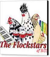 The Flockstars Canvas Print by Sarah Rosedahl