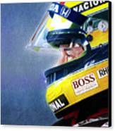 The Focus Of Ayrton Canvas Print