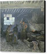 The Forge Canvas Print by Alfred Sisley