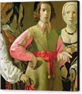 The Fortune Teller Canvas Print by Georges de la Tour