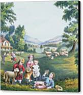 The Four Seasons Of Life Childhood Canvas Print