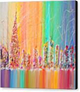 The Future City Abstract Painting  Canvas Print by Julia Apostolova