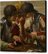 The Gamblers Canvas Print by Hendrick Ter Brugghen