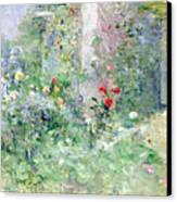 The Garden At Bougival Canvas Print by Berthe Morisot