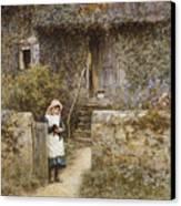 The Garden Gate Canvas Print by Helen Allingham