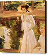 The Garden Canvas Print by Joaquin Sorolla y Bastida