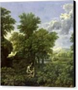 The Garden Of Eden Canvas Print by Nicolas Poussin