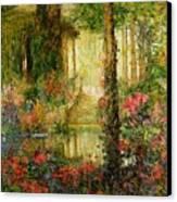 The Garden Of Enchantment Canvas Print by Thomas Edwin Mostyn