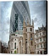 The Gherkin Canvas Print by Donald Davis