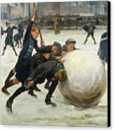 The Giant Snowball Canvas Print by Jean Mayne