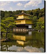 The Golden Pagoda In Kyoto Japan Canvas Print
